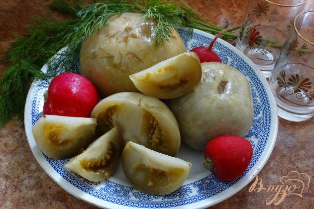 фото рецепта: Моченые зеленые помидоры