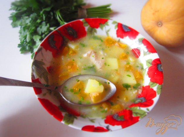 фото рецепта: Куриный суп с тыквой