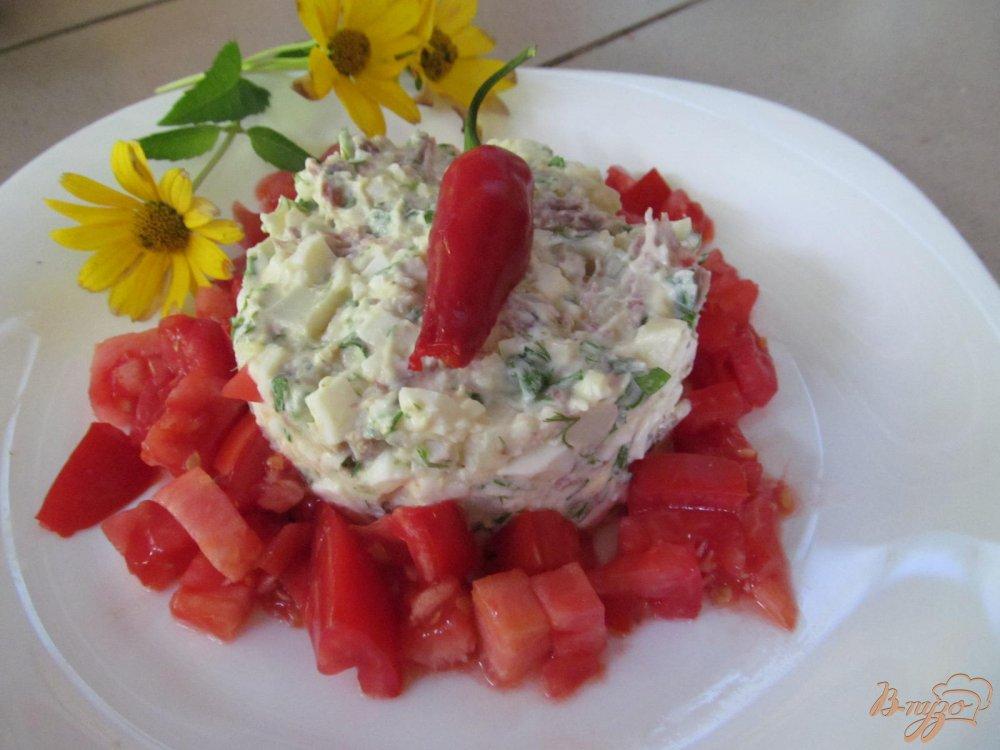 Салат из мяса помидор яйца