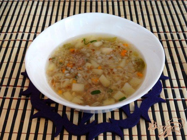 фото рецепта: Гречневый суп с молодой капустой