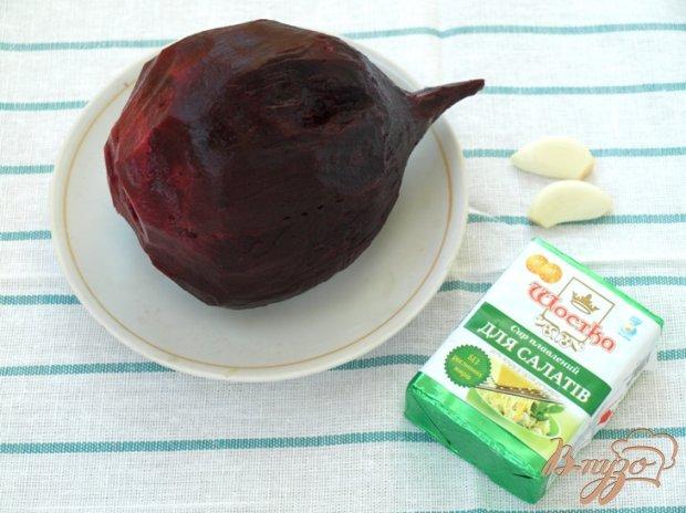 Рецепт Закуска из свеклы с плавленым сыром
