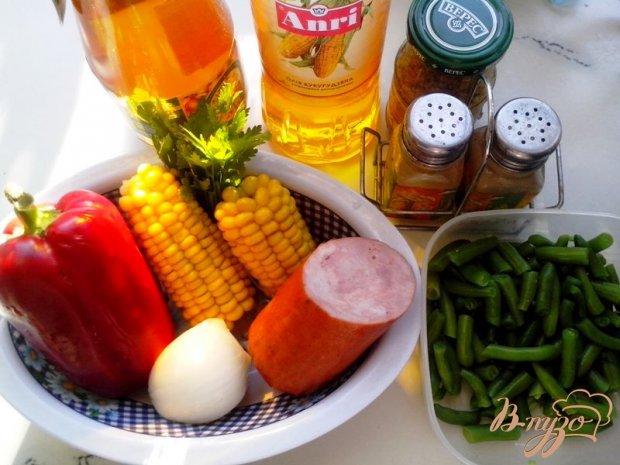 Рецепт Салат с ветчиной и сезонными овощами