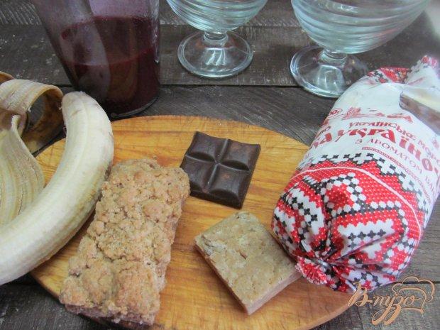 Рецепт Десерт из печенья банана и мороженого