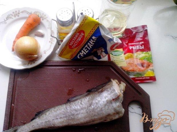 Рецепт Минтай тушёный в сметане