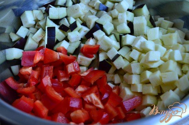 Рецепт Рисовая запеканка с овощами и вареной колбасой