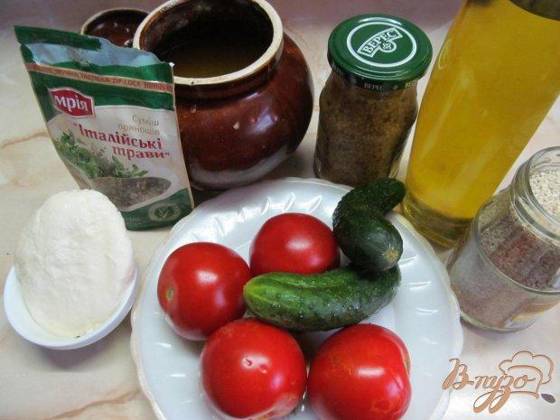 Рецепт Овощной салат с моцареллой