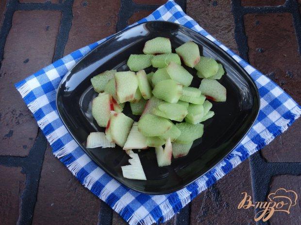 Рецепт Дрожжевой пирог с ревенем и яблоками