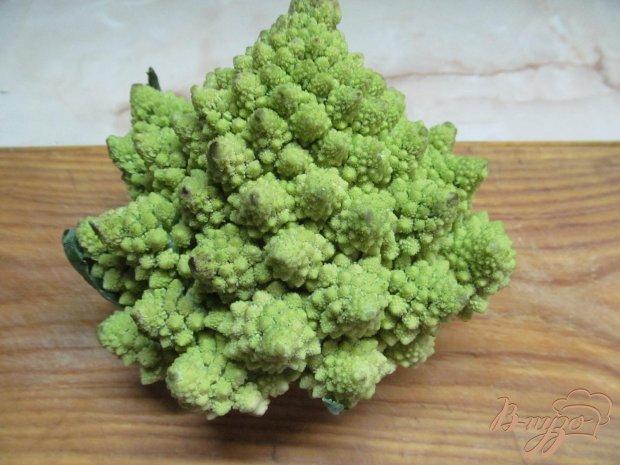 Рецепт Салат из куриных сердечек и капусты романеско