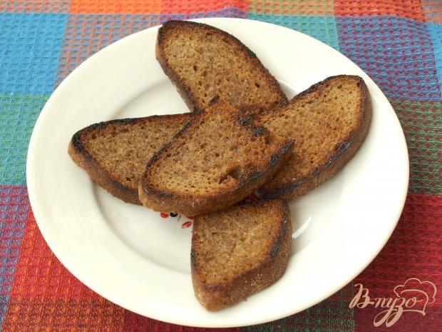 Рецепт Гренки из чёрного хлеба с сельдью