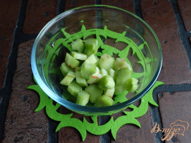 Рецепт Жареные пирожки с ревенем и грушей