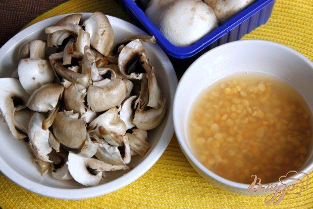 Рецепт Грибная юшка с горохом