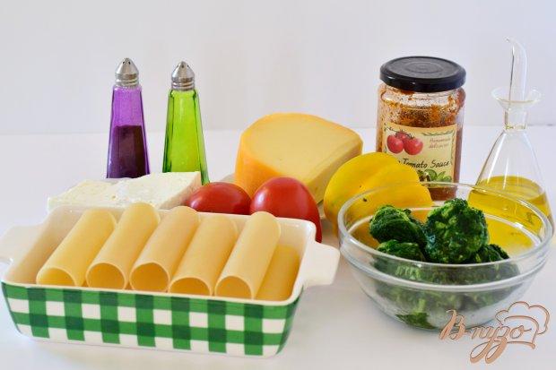 Рецепт Канеллони со шпинатом и фетой