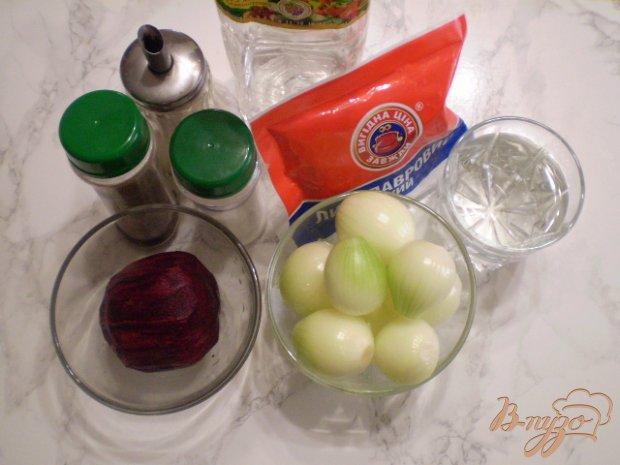 Рецепт Розовый маринованный лук в банках