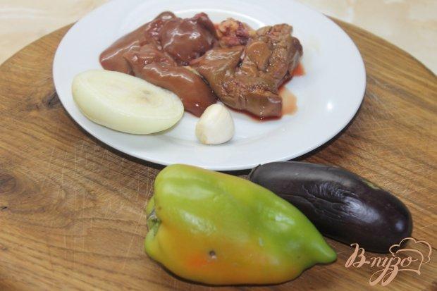 Рецепт Куриная печень жаренная с овощами в соевом соусе