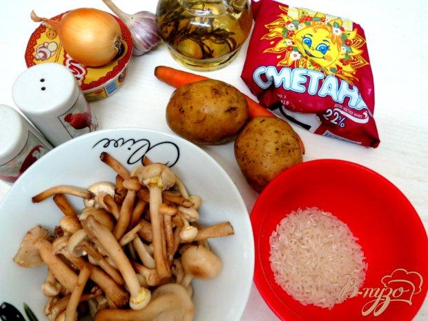 Рецепт Суп с опятами и со сметаной