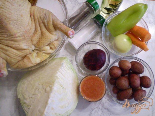 Рецепт Борщ на утином бульоне