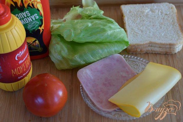 Рецепт Бутерброд с ветчиной и сыром