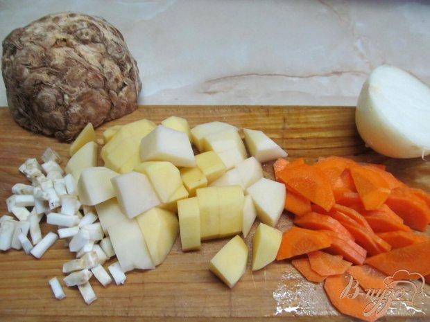 Рецепт Суп на бульоне из баранины с помидором и пшеном
