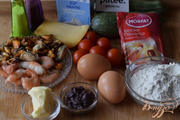 Рецепт Пирог с морепродуктами