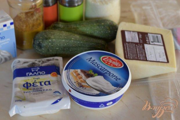 Рецепт Кабачковая слойка со шпинатом и фетой