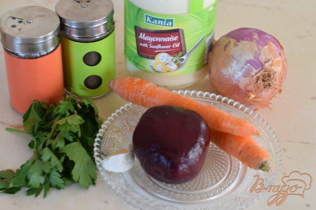 Рецепт Острый салат с отварной свеклой