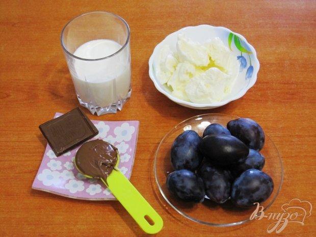 Рецепт Коктейль из слив с мороженым