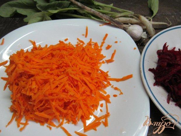 Рецепт Морковный салат с редькой и свеклой