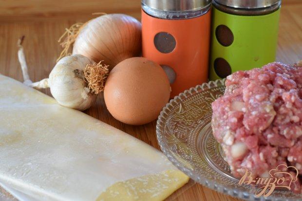 Рецепт Шашлыки из мясных шариков в слоеном тесте
