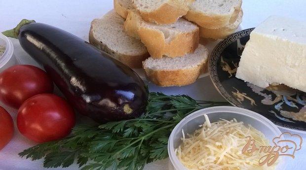 Рецепт Бутерброды с баклажанами и брынзой