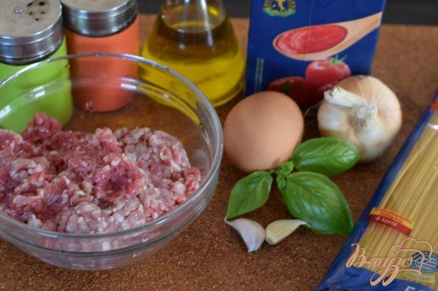 Рецепт Мясные шарики в гнездах из спагетти