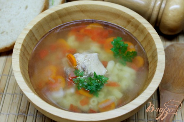 фото рецепта: Суп с мясом кролика и вермишелью