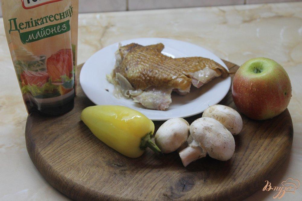 салат из курицы и шампиньонов пошаговый рецепт