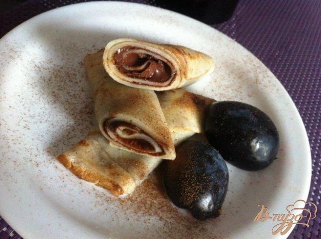 фото рецепта: Налистники с орехово- шоколадной пастой