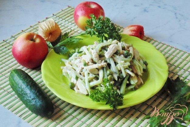 фото рецепта: Фруктово-овощной салат с грибами.
