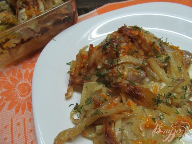 фото рецепта: Запеканка с цыпленком и картофелем