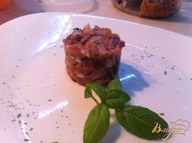 фото рецепта: Тартар из копченого лосося