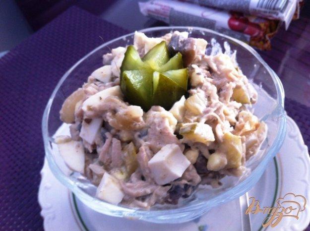 фото рецепта: Салат из птицы с грибами