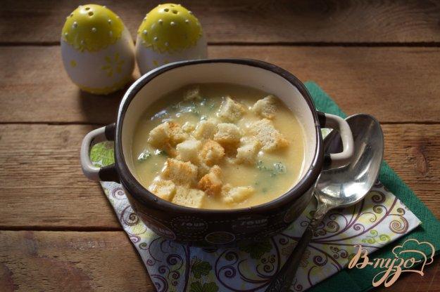 фото рецепта: Гороховый суп-пюре с гренками