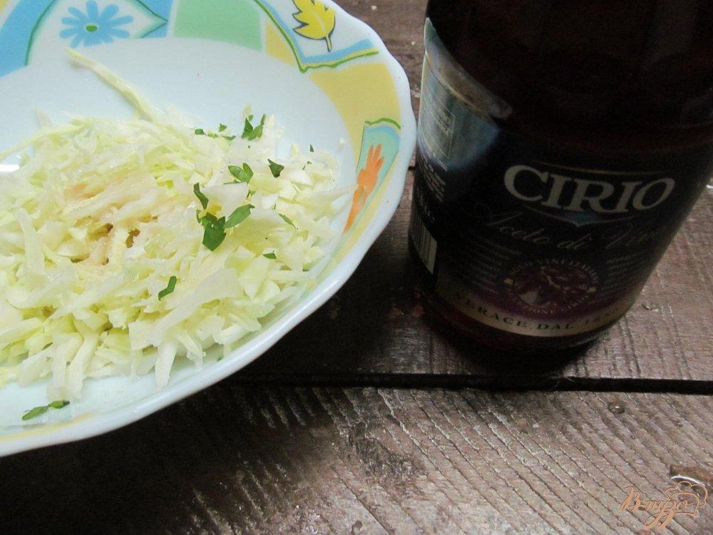 Рецепт Салат из капусты с редькой