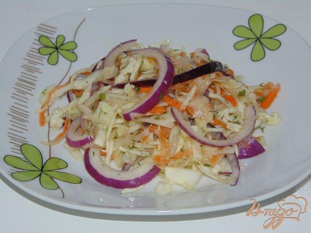 фото рецепта: Капустный салат с дайконом и красным луком