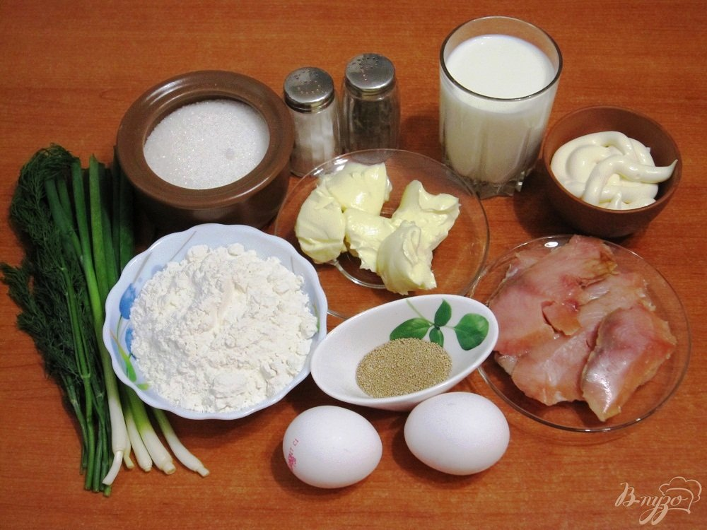 Рецепт Пирог с копченой горбушей