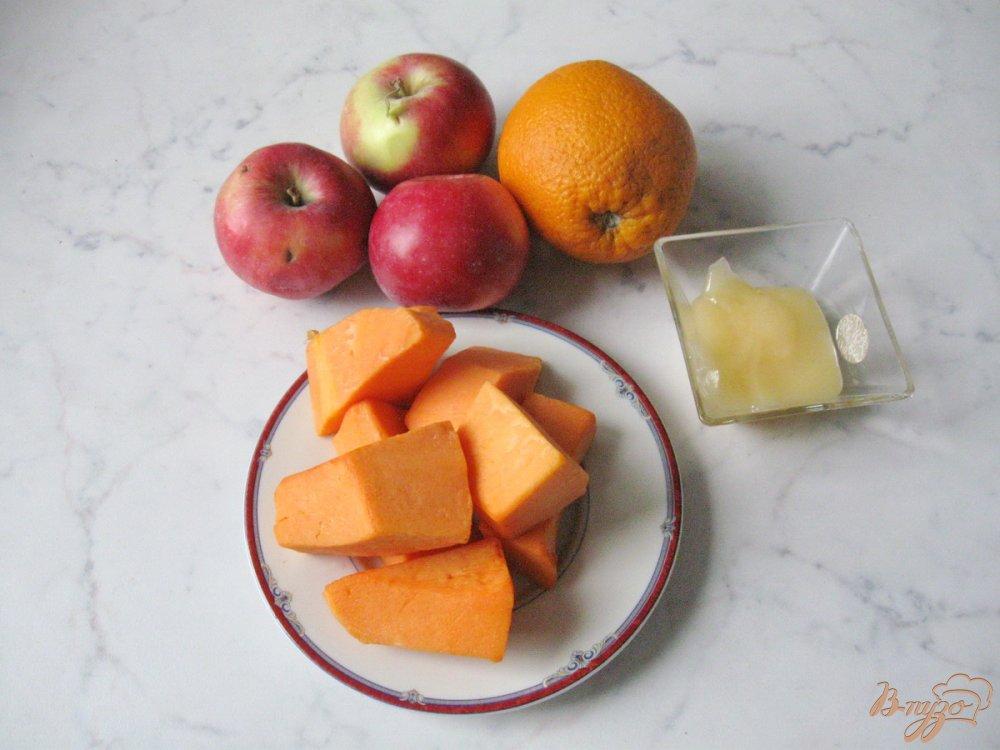 Рецепт Смузи из тыквы, яблока и апельсина