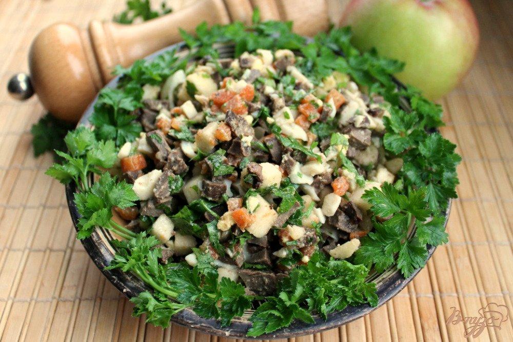 Салат из печени говяжьей кукурузой