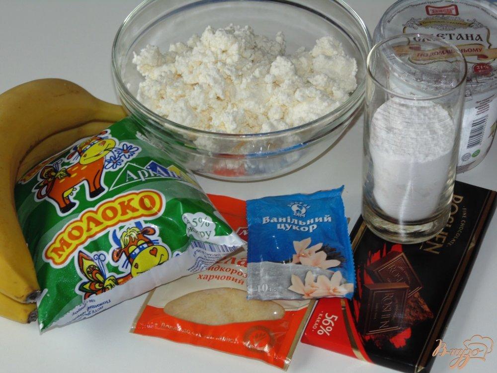 Рецепт Бланманже творожное с бананом