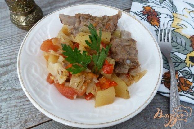 фото рецепта: Овощное рагу со свиными ребрами