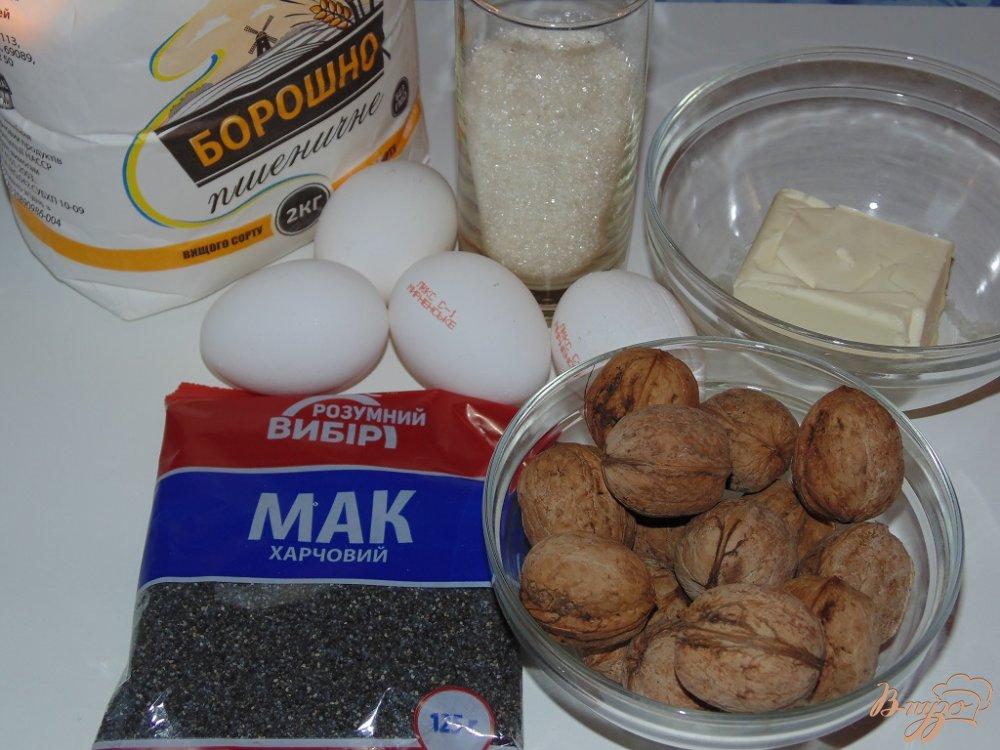 Рецепт Маковый пирог с грецкими орехами