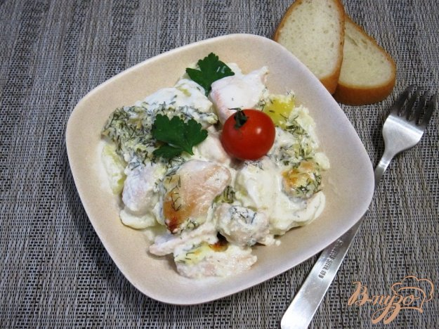 фото рецепта: Запеканка с картофелем и куриным филе