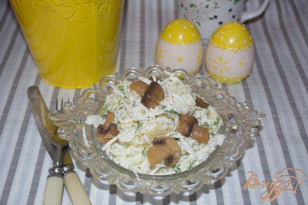фото рецепта: Осенний салат с редькой и грибами