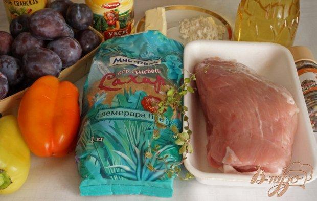 Рецепт Мясной рулет с карамельными сливами