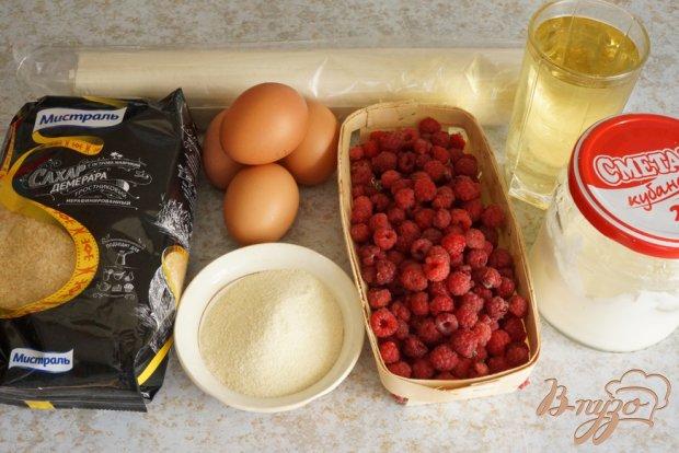 Рецепт Хорватский пирог с малиной